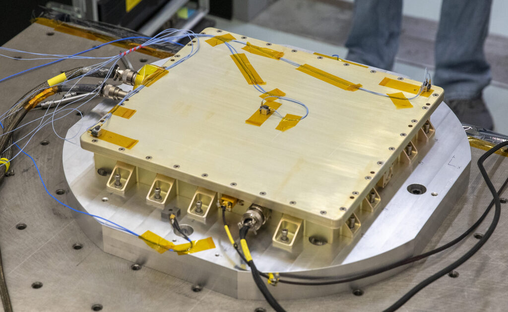 The Power Converter Unit, pictured here, will serve as the power interface between CLARREO Pathfinder and the International Space Station. Credits: NASA/David C. Bowman